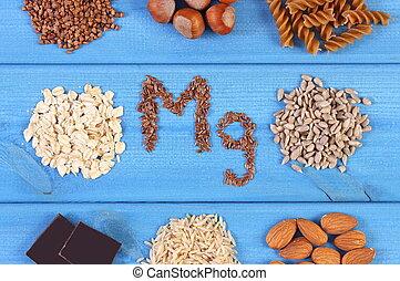 繊維, プロダクト, 食事である, 含んでいること, 原料, 自然, 栄養, 健康, マグネシウム
