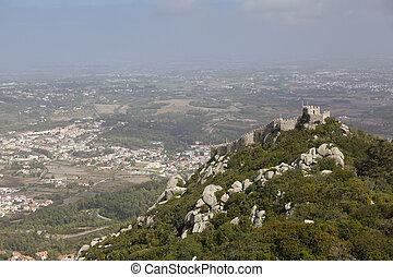繋ぎ止める, sintra, 城, 台なし, ポルトガル