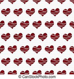 織品, 心形, retro, 背景, 紅色