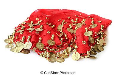 織品, 由于, 被縫, 硬幣, 為, 肚子, 跳舞, 由于, 激情, 裙子