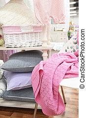 織物, 家, セット