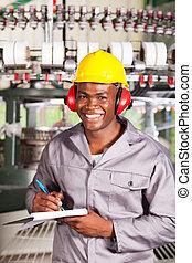 織物, 幸せ, 労働者, 工場, アフリカ