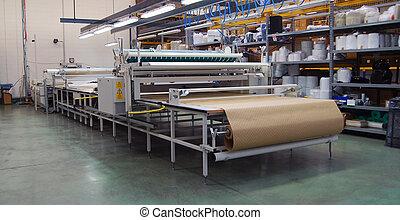 織物, 網, 切断, automatically
