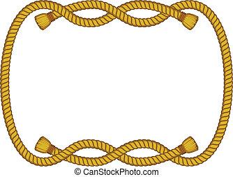 繩子, 框架, 被隔离, 在懷特上
