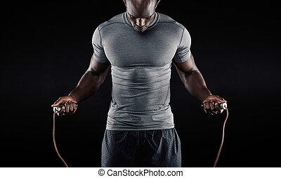 繩子, 跳, 肌肉, 人