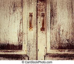 繪, 老, 處理, 門