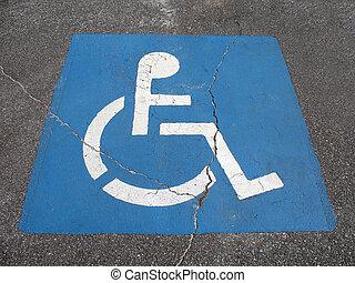 繪, 障礙, 停車處, 地方, 簽署