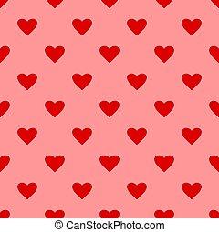 繰り返した, 日, 心, 愛, バックグラウンド。, バレンタイン, 漫画, ピンク, pattern., seamless, 平ら, 偉人, design., ベクトル, wedding.