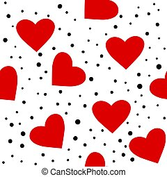 繰り返した, 日, 心, 愛, バックグラウンド。, バレンタイン, 漫画, 点を打たれた, pattern., seamless, 平ら, 偉人, design., ベクトル, wedding.