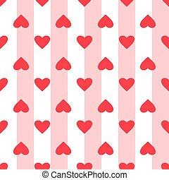 繰り返した, 日, 心, 愛, バックグラウンド。, バレンタイン, 漫画, pattern., seamless, 平ら, 偉人, design., ベクトル, wedding., しまのある