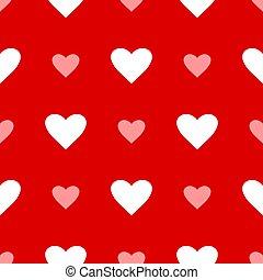 繰り返した, 日, 心, 愛, バックグラウンド。, バレンタイン, 漫画, pattern., seamless, 平ら, 偉人, design., ベクトル, wedding.