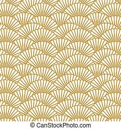 繰り返し, image., パターン, イメージ, ホタテ貝, 形, 背景