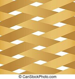 纖維, 圖案, 交織, 矢量, 黃金, 插圖, -