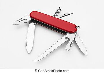 红, 军队, 刀, multi-tool