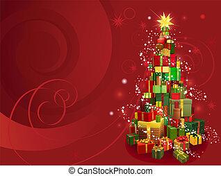 红, 圣诞节, 背景