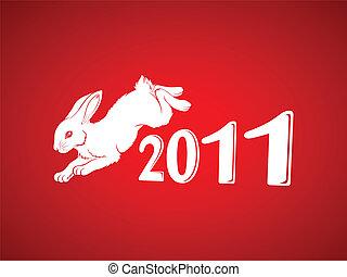 红, 年, 兔子