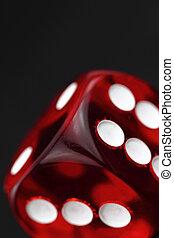 红, 骰子, 背景
