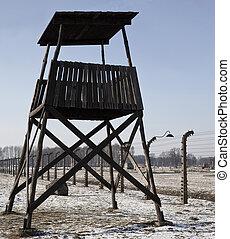 纳粹, 波兰, 营房, -, 集中, auschwitz-birkenau