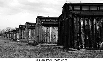 纳粹, germany's, 营房, 集中, 灭绝