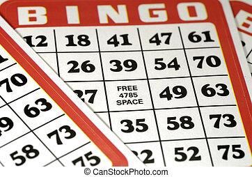 纸牌的赌博卡片