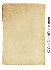 纸, 老, 羊皮纸, 背景