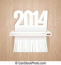 纸, 2014, 是, 切割, 入, 碎片