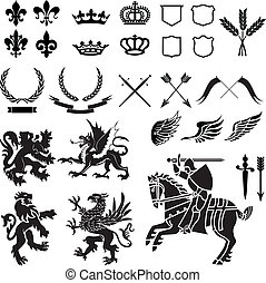 纹章学, 装饰物, 放置