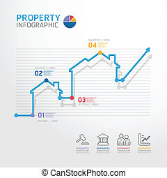 线, 矢量, 财产, 图形, 风格, 商业, 样板, infographics