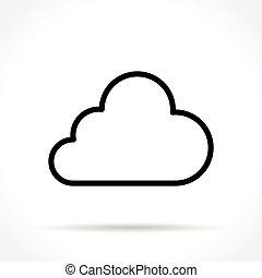 线, 稀薄, 云, 图标
