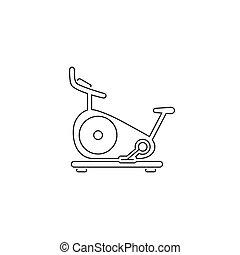 线, 网, 自行车, 矢量, 静止, icon., 黑色