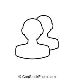 线, avatar, 稀薄, 图标