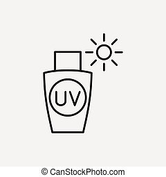 线, sunscreen, 图标