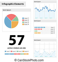细节, infographic, 矢量, 描述