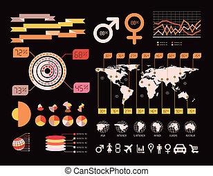 细节, infographic, 矢量, illustration.