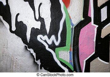 结构, 城市, 涂描墙壁, graffiti, 背景