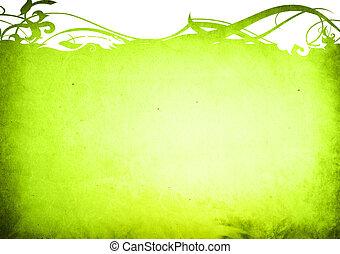 结构, 植物群, 风格, 背景, 框架