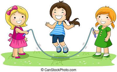 绳索, 跳跃