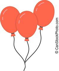 绳索, balloon, 红, 图标