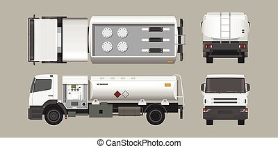 维护, 油轮, 空气, 观点。, 燃料, 往回, 卡车, 飞机。, transport., 边, 前面, outline, 蓝图, 顶端, aircraft., style., 机场, 工业