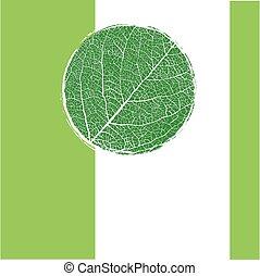 绿色的背景, 带, 环绕, 呈脉络状