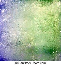 绿色的蓝色, 摘要, grunge, 背景