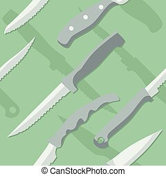 绿色, 刀, 背景, 光