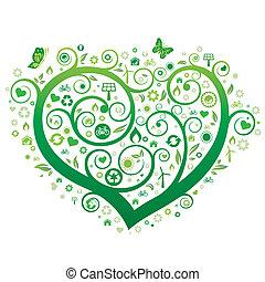 绿色, 心