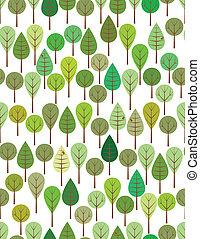 绿色, 树林