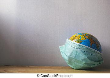 绿色, it, 伪装, 医学, 世界, globus