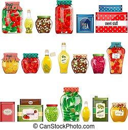 缶詰にされた 商品, 型, コレクション, 箱, デザイン, あなたの