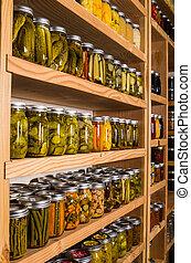 缶詰にされた 商品, 貯蔵, 棚