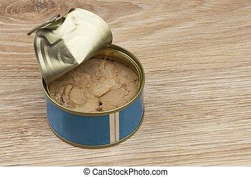 缶詰にされる, オイル, fish, -, オリーブ, マグロ