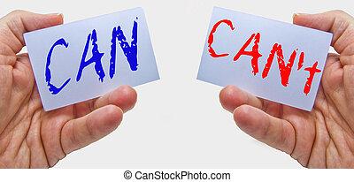 缶, あなた, メッセージ, 動機づけ, can't