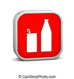 缶, びん, 印